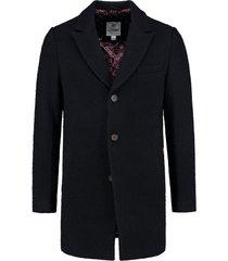 coat wool boucle navy (101248 - 649n)