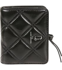 marc jacobs quilted button-snap wallet