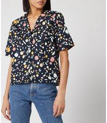 simon miller women's roa shirt - seaglass print - xs
