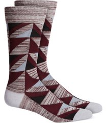 alfani men's geometric dress socks, created for macy's