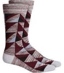 alfani men's geometric dress socks, created for macy's