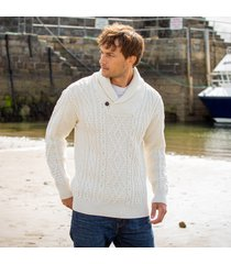 cream enniscrone aran sweater medium