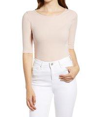 women's bp. scoop back t-shirt, size large - pink