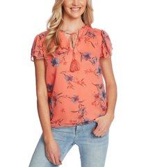 cece expressive lillies blouse