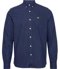 brushed herringb shirt skjorta casual blå lyle & scott