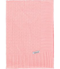 manta cobertor de berã§o tricã´ tamine luxo rosa beb㪠- rosa - menina - dafiti