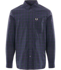winter tartan shirt - carbon blue m9509-266