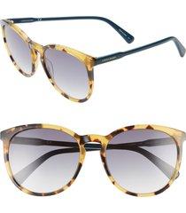 women's longchamp 56mm round sunglasses - vintage havana