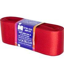 fita de cetim nº09 38mm peça com 10m vermelho