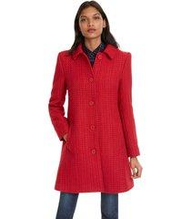 abrigo desigual rojo - calce regular