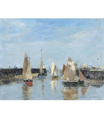 the museum outlet - trouville, the jetties, low tide, 1883-87, stretched canvas