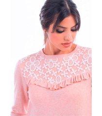 sweater rosa mia loreto kelley