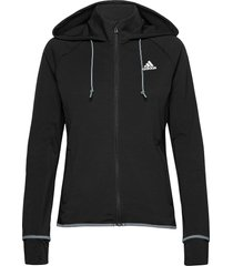 designed to move aeroready full-zip hoodie w hoodie trui zwart adidas performance