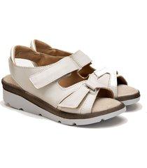sandalia de cuero natural valentia calzados brenda 309