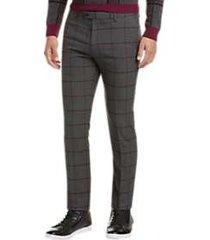 paisley & gray skinny fit suit separates dress pants gray windowpane plaid