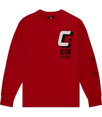 converse sudadera basketball red