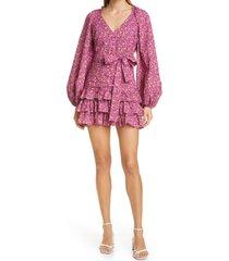 women's loveshackfancy rina cap sleeve dress, size 4 - pink