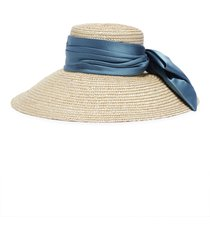 'mirabel' satin sash straw hat