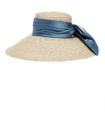 'mirabel' satin sash straw hat