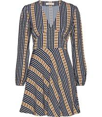 cindy short dress ls aop 10056 korte jurk multi/patroon samsøe samsøe