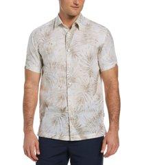 cubavera men's palm print shirt