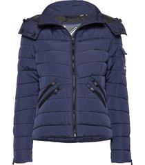 luxe quilt padded jacket fodrad jacka blå superdry