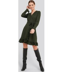 trendyol binding detailed dress - green
