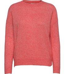 femme mohair o pullover stickad tröja rosa moss copenhagen
