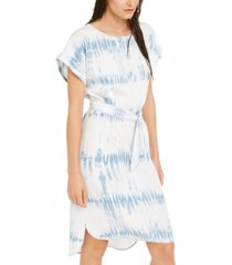 inc tie-dye scoop-neck dress, created for macy's