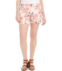 style & co floral-print shorts, created for macy's