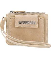 jacquemus olive flap wallet - neutrals