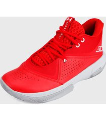tenis basketball rojo-blanco under armour sc 3zero iv