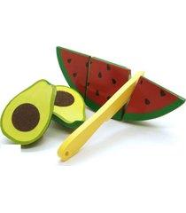 brinquedo kit frutinhas com corte abacate melancia faca