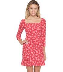 b darlin juniors' floral-print fit & flare dress