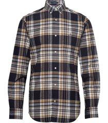 d2. brushed oxford reg bd overhemd casual multi/patroon gant