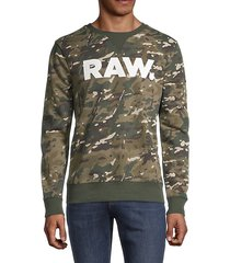 camouflage graphic long-sleeve sweatshirt