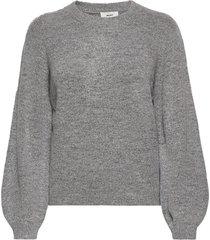 objeve nonsia ls knit pullover noos stickad tröja grå object