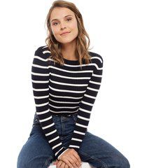 sweater only natalia azul - calce ajustado