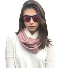 bufanda cuello infinito rosa