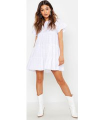 broderie anglaise smock dress, white
