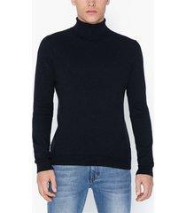 topman navy roll neck jumper tröjor navy blue