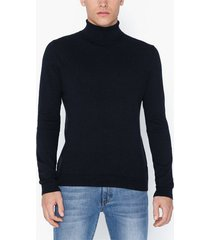 topman navy roll neck jumper tröjor navy blue