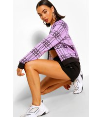 scuba flannel print bomber jacket, lilac