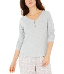 charter club women's ribbed pajama top, created for macy's