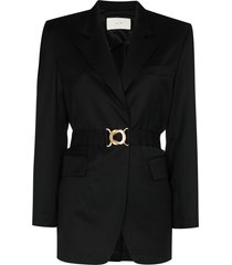 lvir summer belted blazer - black