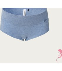 zwangerschapsslip cotton blue melange
