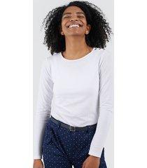 camiseta m/l mujer color blanco, talla 10