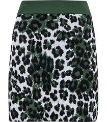 kenzo leopard skirt
