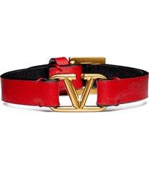 women's valentino garavani vlogo leather bracelet