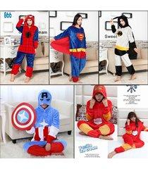adult kigurumi cosplay captain america costume fancy animal pajamas